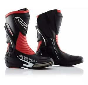 Rst-Tractech-CE-Evo-3-Motorcycle-Motorbike-Sports-Race-Boots-Black-amp-Red-41-7