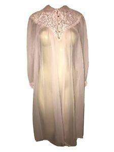 vintage pink pinehurst lingerie tricot peignoir chiffon