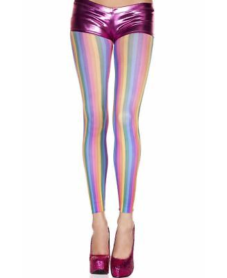 New Music Legs 35416 Rainbow Fishnet Leggings