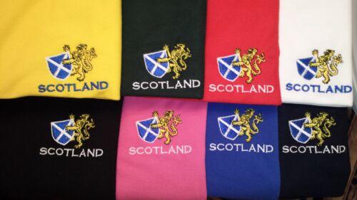 Saltire LEONE RAMPANTE ricamato su una Felpa con Cappuccio Scozia SCOTTISH SCOZZESE