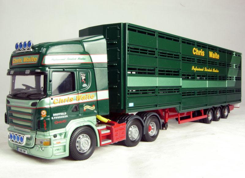 CORGI moderno camion trasporto merci pesanti CC13715 SCANIA Bestiame Chris Waite 1 50