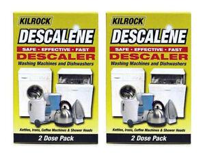 Rationnel 2 X Kilrock Descalene Détartrant Pour Machines à Laver Lave-vaisselle Bouilloires 4 X 50g-afficher Le Titre D'origine