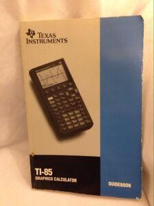 ti 85 texas instruments graphic calculator manual guidebook only rh ebay com ti 85 manual contrast ti-85 manual