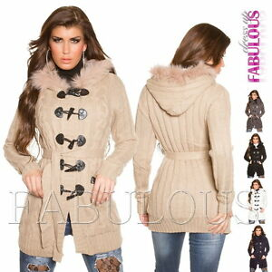 Women-039-s-Thick-Warm-Cardigan-Knit-Top-Jacket-Winter-Outerwear-Size-6-8-10-XS-S-M