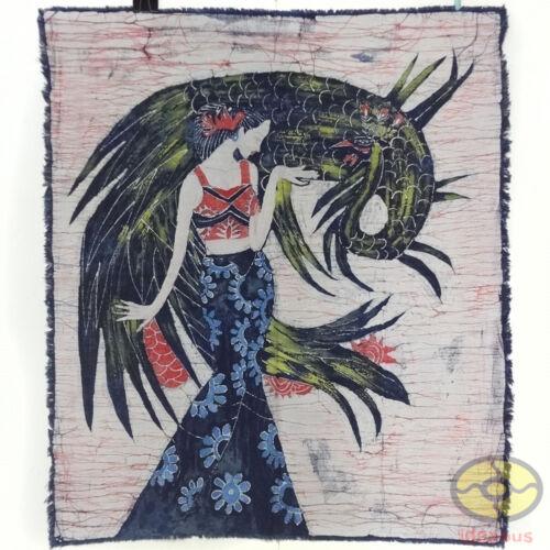 The Peacock Princess of Dai Minority Chinese Home Wall Hanging Batik Tapestry
