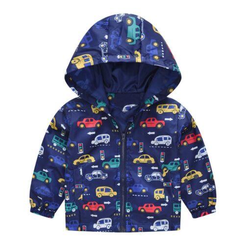 Toddler Kid Baby Girl Boy Cartoon Spring Hooded Coat Jacket Tops Outwear 12M-5T
