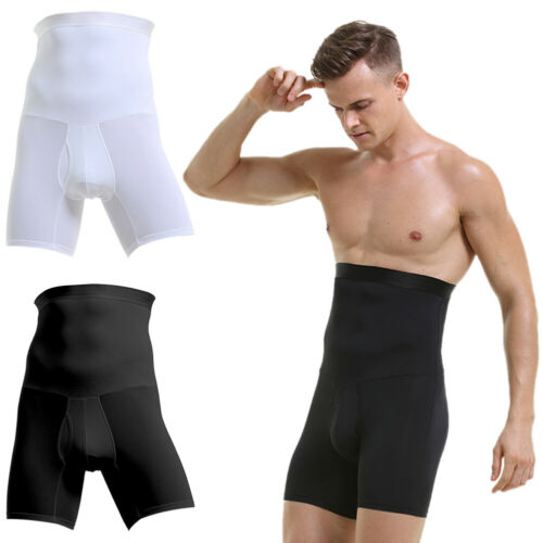 BG/_ Men Compression High Waist Slim Shorts Tummy Body Contour Shaper Pants Sight