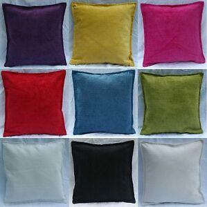 Cushion-Covers-Plain-Chenille-White-Cream-Red-Black-Lime-fuchsia-Teal-Purple