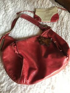 Image Is Loading Franklin Covey Leather Purse Red With Extra Zipper