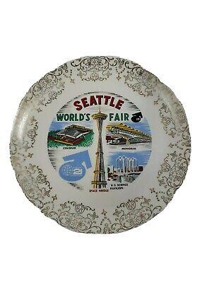 World/'s Fair Souvenir The Century 21 Exposition 1962 Space Needle Washington State Science Pavilion Seattle World/'s Fair Plate