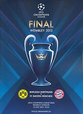 2013 UEFA CHAMPIONS LEAGUE FINAL BAYERN MUNICH v BORUSSIA DORTMUND PROGRAMME