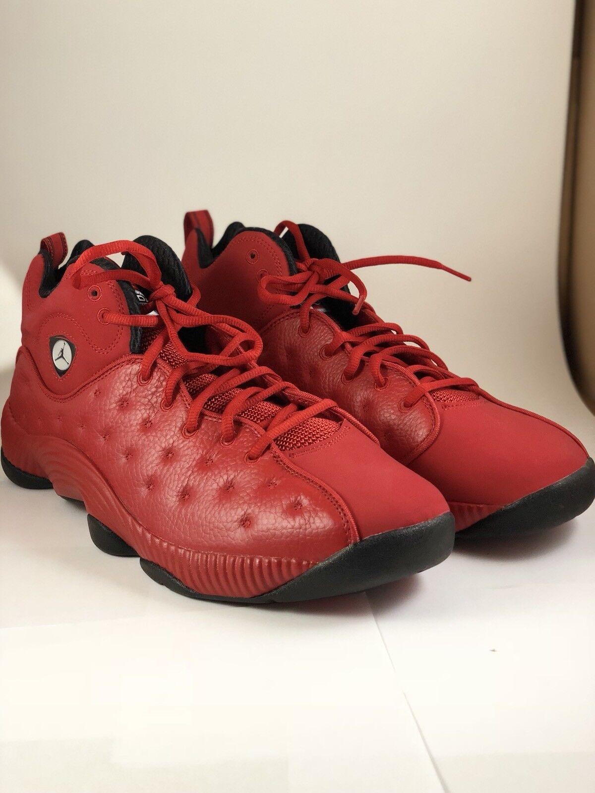 Nike air jordan jumpman squadra ii atletico scarpe taglia 12 819175-602 palestra red