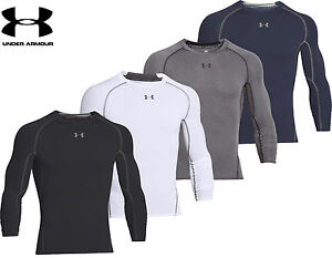 753633a2 Image is loading Mens-Under-Armour-Compression-Shirt-HeatGear-Armour-Long-