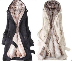 Chic New Womens Thicken Warm Winter Coat Hood Parka Overcoat Long Jacket Outwear
