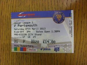 27042013 Ticket Shrewsbury Town v Portsmouth  folded Thanks for viewing th - Birmingham, United Kingdom - 27042013 Ticket Shrewsbury Town v Portsmouth  folded Thanks for viewing th - Birmingham, United Kingdom