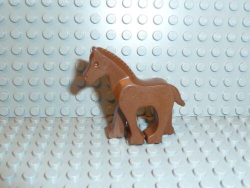 LEGO® Town Classic 1x Kleines Pferd Fohlen alt braun horse 30032 6404 6418 K10