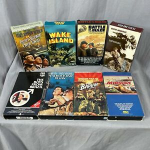 Lot 8 War Military Movie VHS Battle Of The Bulge To Hell And Back Torpedo Run