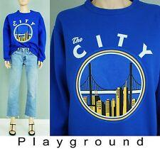 "Vintage ""the city"" bridge novelty blue sweat shirt"