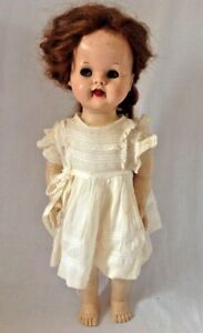 Vintage-1950s-Ideal-Saucy-Walker-Doll-Auburn-Red-Hair-Flirty-Eyes-for-Repair-22-034
