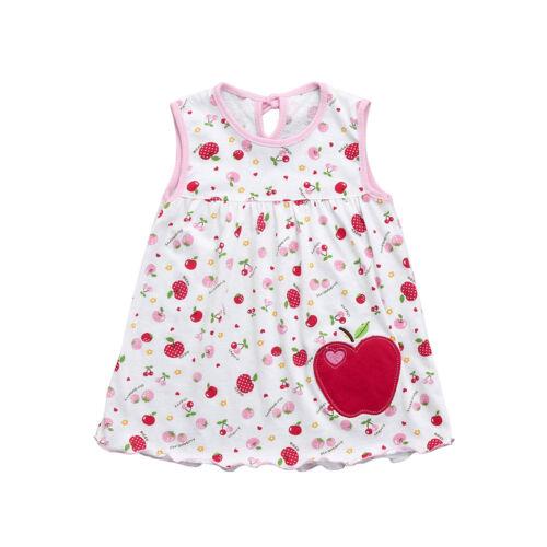 0-24Months Toddler Cute Baby Cotton Flower Children Tee Vest Shirt Tutu Dress