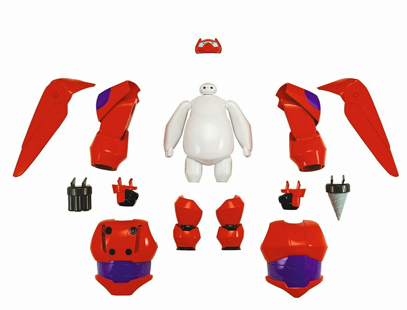 Big Hero 6 Armed Up Baymax Action Figur 4 Lek flygaga Bygg Robot Fight Fun