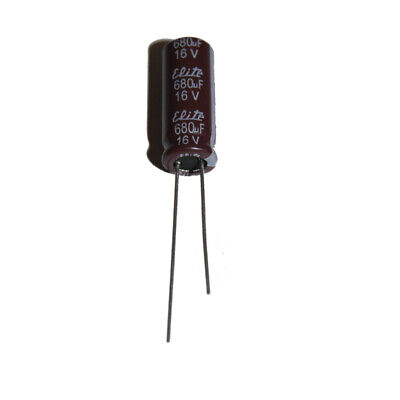 2//5//10//20//50//100 Piece 680uF 16V 105C Radial Electrolytic Capacitor 8x12mm