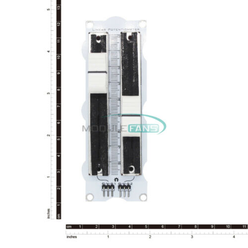 10K Single//Double Row Sliding Linear Potentiometer Simulation Electronic Module
