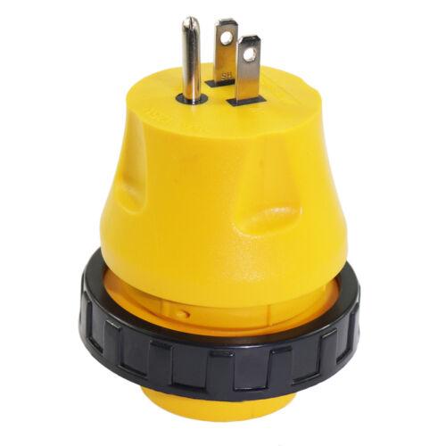 15Amp Male to 30Amp 50Amp Female Plug 125V Shore Power RV Boat Marine Adapter