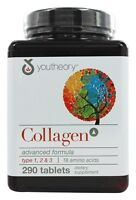 Youtheory Collagen Advanced Formula Type 1,2 & 3 - 290 Tablets