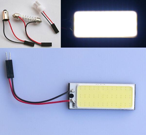 4x Auto COB Chip 36 LED Panel Licht T10 Leselicht Festoon Weiß Innenlicht Lampe