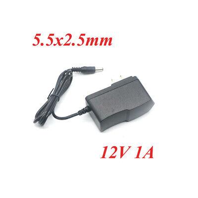 50pcs 12V 1A AC-DC 5.5 x 2.5mm Power Supply Adapter US Plug 1000mA Converter