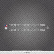 01037 Adesivi Bicicletta Cannondale Track-Decalcomanie-Trasferimento-Bianco