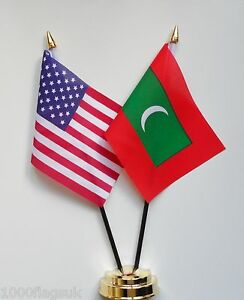 United-States-of-America-amp-Maldives-Double-Friendship-Table-Flag-Set