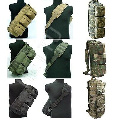 Tactical MOLLE Assault Go Bag Shoulder Sling 1000D Cordura Hiking Camping Pack