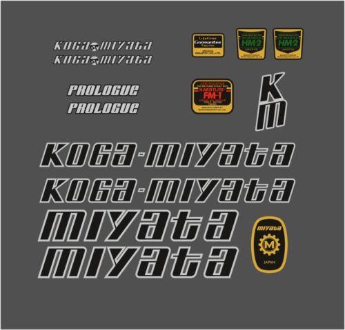 KOGA MIYATA PROLOGO 1985 FRAME DECAL SET BLACK//SILVER