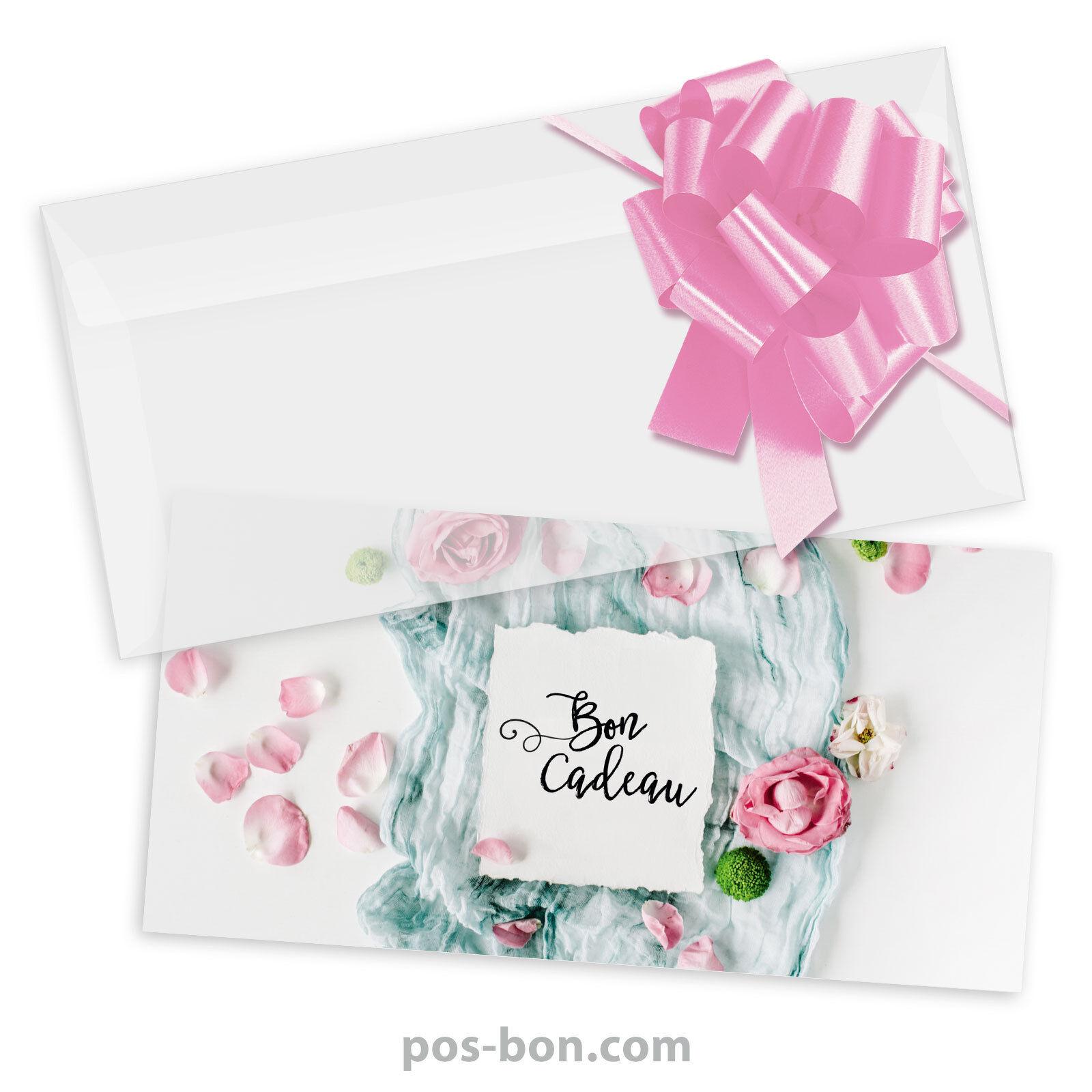 Bons cadeaux universels + enveloppes + nœuds rub. pour toutes occasions FA9262F