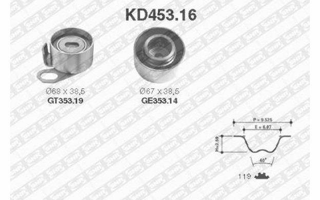 SNR Kit de distribution pour OPEL MONTEREY FRONTERA KD453.16 - Mister Auto