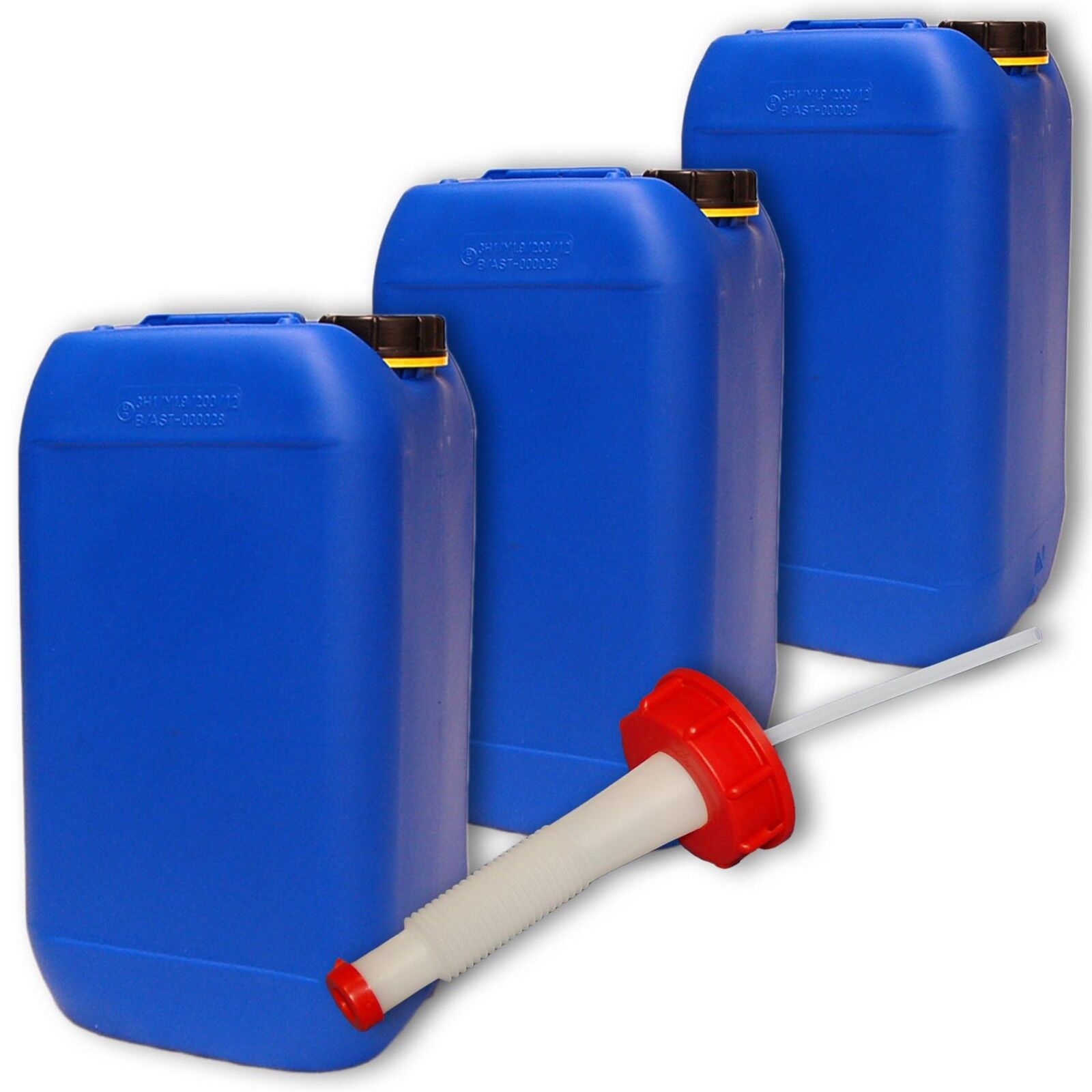 Bidon plastique DIN 15 L Bleu DIN plastique 61 + 1 bec verseur flexib. Alimentaire (22246+020) 985da8