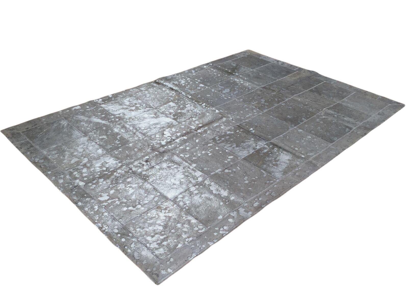 Patchwork Teppich aus gefärbtem Kuhfell   Cowhide  - 130 cm x 160 cm, RUG, NEU