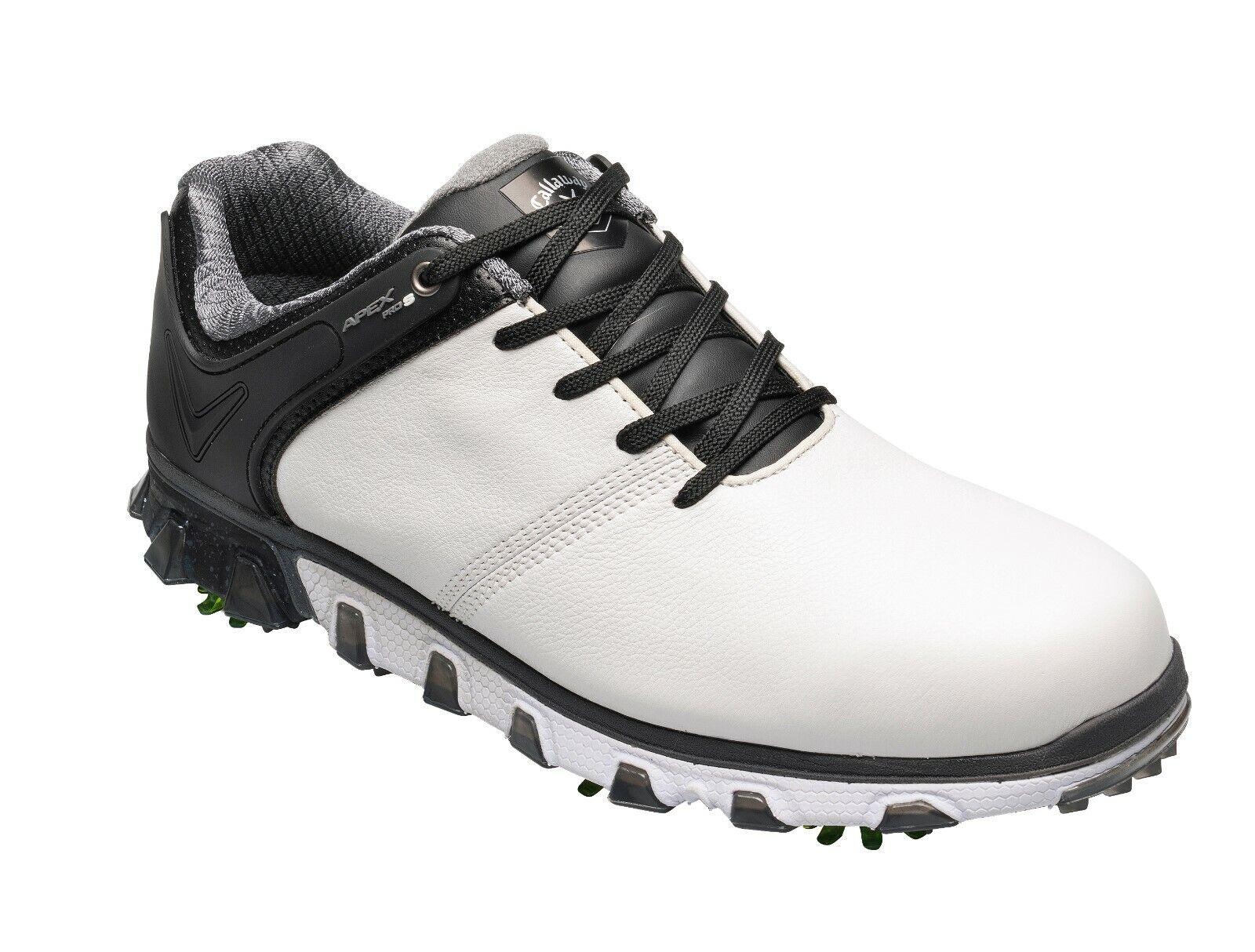 Callaway Apex Pro S `19, Herrenschuh, Gr.45 - UK 10,5, weiß-schwarz, wasserdicht