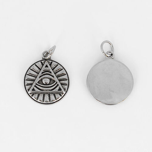 2x  Dark Silver Tone All seeing eye Charms Pendants Findings Jewelry Making