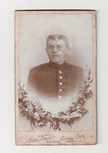 Vintage-CDV-German-Bavarian-Soldier-Military-Unif-Atelier-Wacker-Photo-Nurnberg
