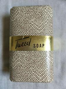 Vintage-1960s-TWEED-74g-Soap-Bar