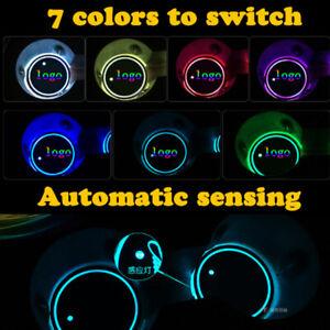 LED-Coche-Sostenedor-De-Taza-Botella-Pad-Mat-Para-Audi-Ford-Auto-luz-ambiente-interior