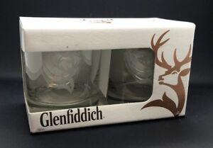 PAIR-OF-GLENFIDDICH-WHISKY-GLASSES-BNIB-WHISKEY-TWO-2-TUMBLERS