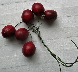 Bundle Vintage Millinery Cherries French