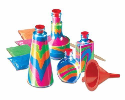 Nuevos niños Botella arte con arena Conjunto de Juego de Juguete de actividad de artesanía Hazlo tú mismo hacer su propio Kit Hobby