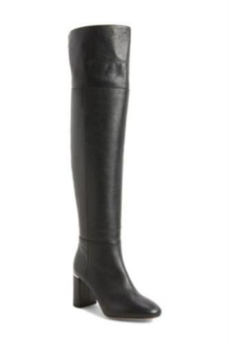 Lewit Renata Black Leather Over the Knee OTK Boots Tall Boots Womens Boots 37