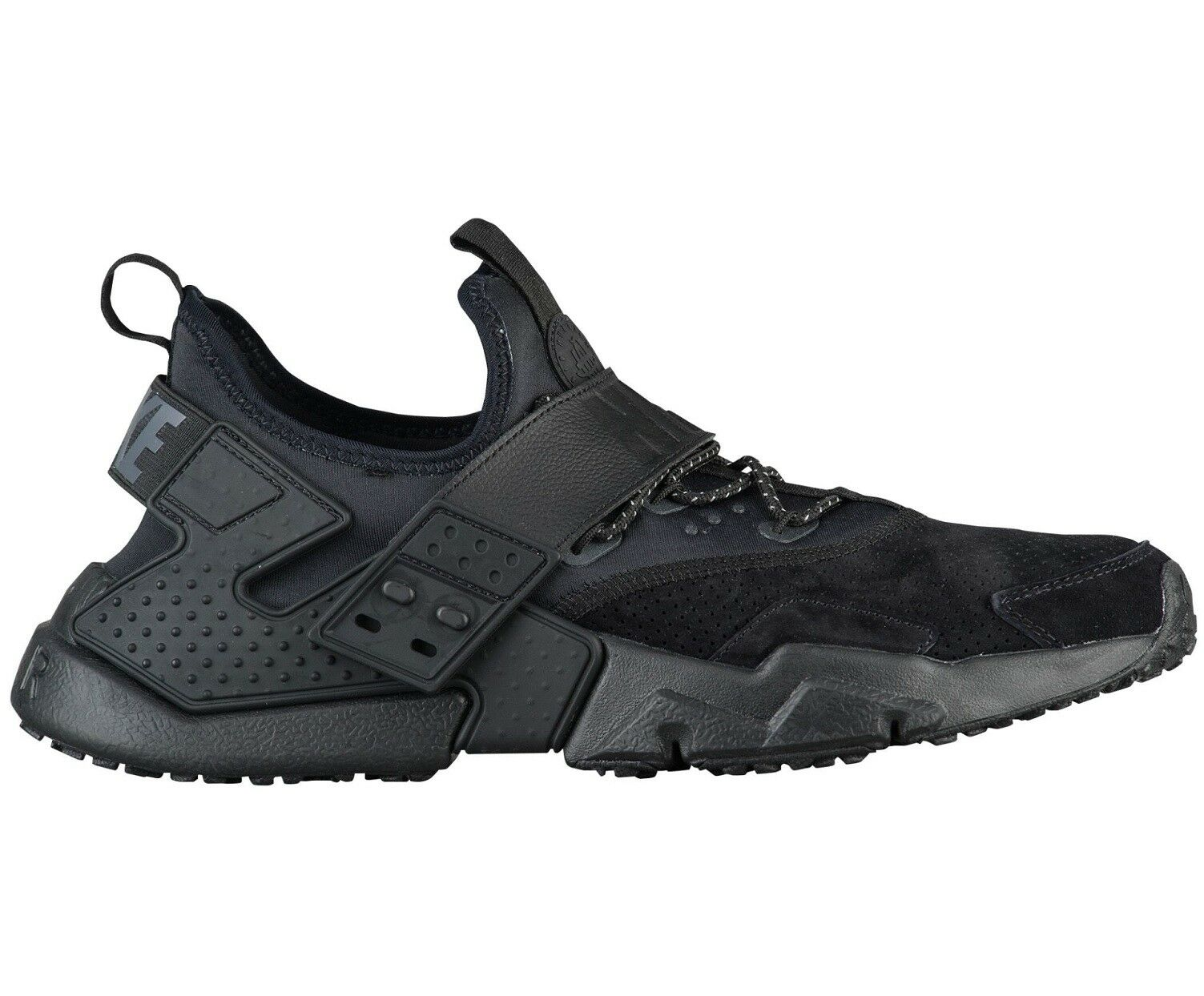 Nike Air Huarache Black Drift Premium Mens AH7335-001 Black Huarache Running Shoes Size 9.5 b60e6d