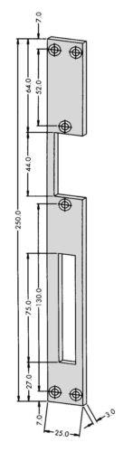 Électrique Effection peso 300 G 6-12 V avec Schließblech 250 x 25
